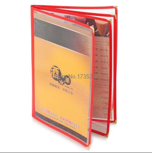 a4 4 pages pvc recipe frame book restaurant food shop menu frame