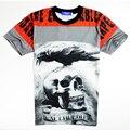 2016 New Arrival Hip Hop T Shirt 3D Letters Print Bird Owl Skull T-Shirt Summer Men Women Tees Tops Casual Funny Fashion Clothes