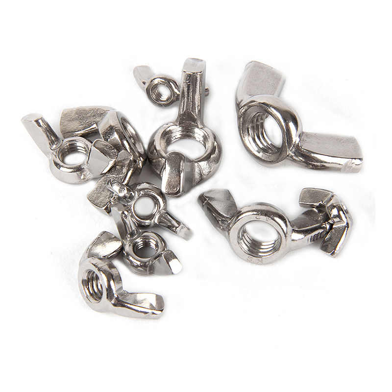 10pcs/lot DIN315 M3 M4 M5 M6 M8 M10 M12 304 Stainless Steel Hand Tighten Nut Butterfly Nuts Wing Nuts