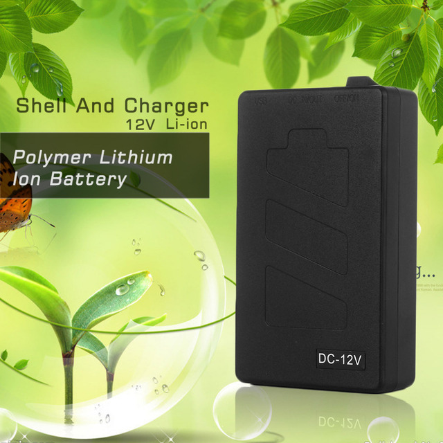Super Polymer Lithium Ion Battery Multifunctional 12V Black Plastic Shell Battery With EU/US Charger 1800 MA