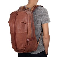 JMD Tanned Leather Men S Backpack For Student School Extra Large Backpacks 7340B