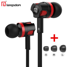 Original Langsdom JM26 Stereo Earphone Headsets Bass Earbuds with mic for iPhone xiaomi mobile phone