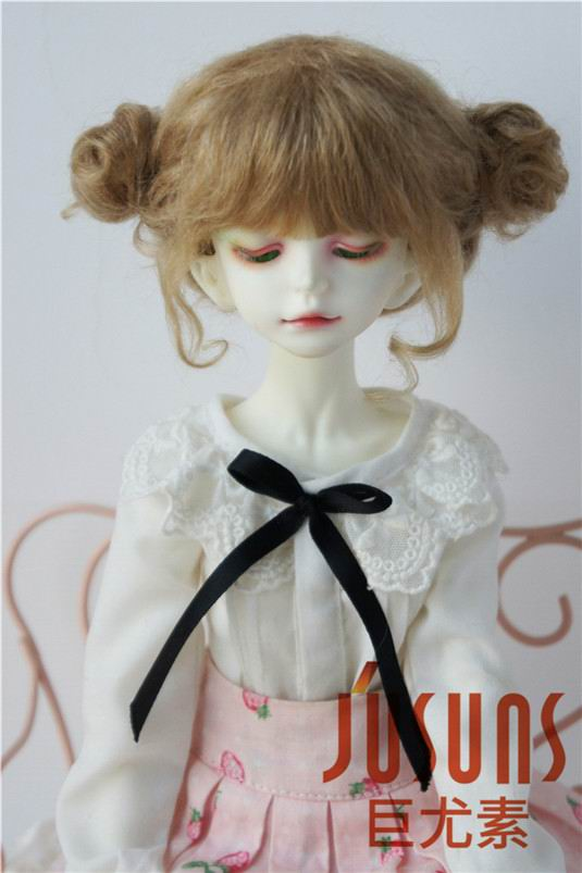 JD406 MSD Mohair doll wig 1/4 Lovely two pony bjd doll wig 7-8 inch doll accessories 8 9 bjd wig silver knights of england volume mohair wig spot