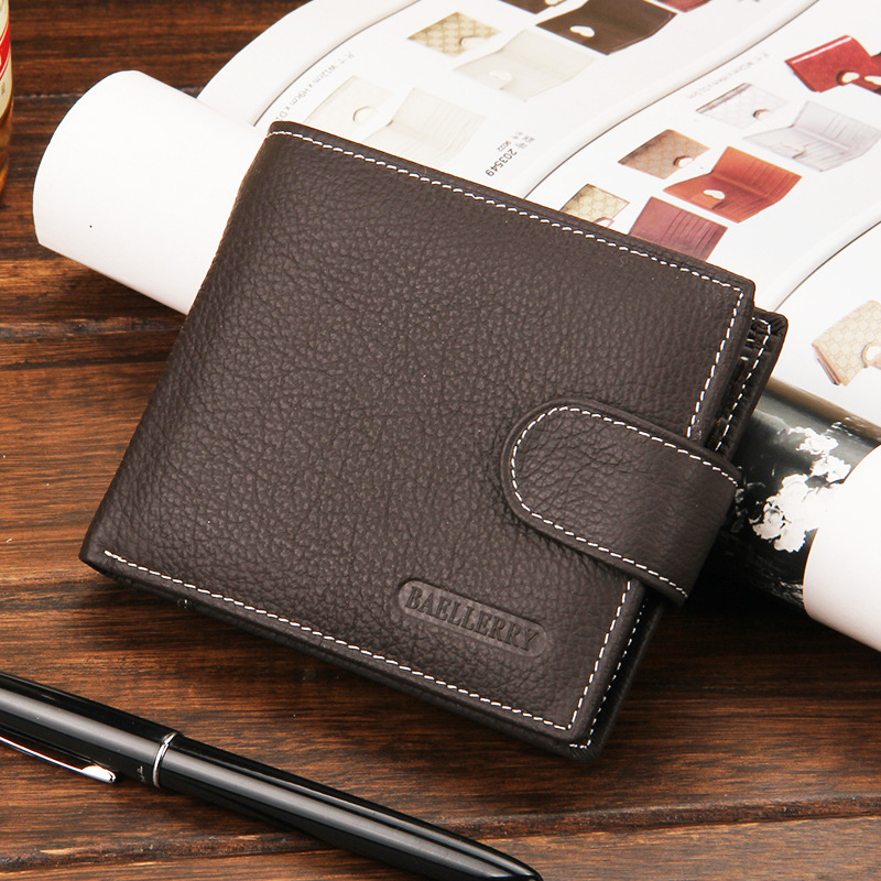 Fashion Leather Wallet Men Coin Pocket Short Clutch Male Purse Money Credit Card Holder Multi Pocket Billfold Maschio Male Purse vintage bifold wallet men handbags purse coin money bag male leather credit id card holder billfold purse mini wallet hot sale
