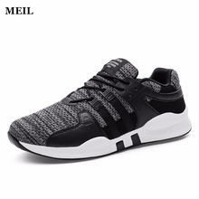 Купить с кэшбэком 2018 Fashion Men Shoes Mesh Breathable Spring Autumn Rubber Casual Shoe For Mens Trainers Comfortable Soft Sneakers