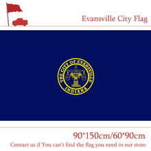 Free shipping US Evansville City Flag State of Indiana 90*150cm 60*90cm Flag 3x5ft 100% Polyester Banner Indoor Outdoor цена и фото