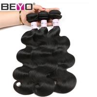 Beyo Haar Malaykörperwelle Haarbündel 100% Menschenhaar Bundles können Kaufen 3 Oder 4 STÜCKE Nicht Remy Haarverlängerungen Kostenloser Versand