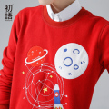 Toyouth Women Winter Sweatshirts Character Embroidery Loose Pullovers O-Neck Casual Fashion Tops