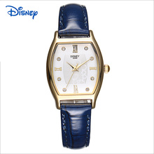 DISNEY 2016 New Brand Women Luxury Dress Watches Cask Leather Strap Fashion Quartz Watch Student Wristwatches