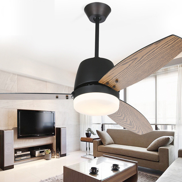42 52 Inch Nordic Dining Room Remote Control Led Ceiling Fan Modern Light Living