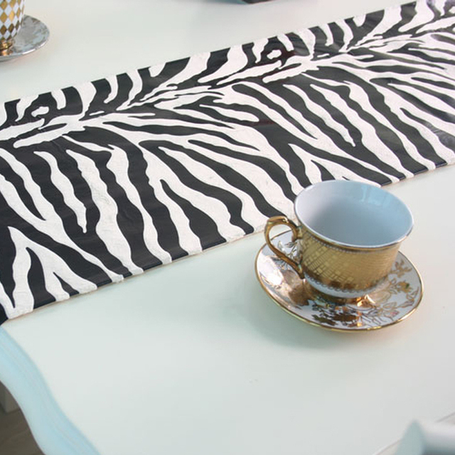 TV Cabinet Upholstery Cover Towel New Meal Flag Zebra Stripes Bed End  Tables Coffee Teasideend
