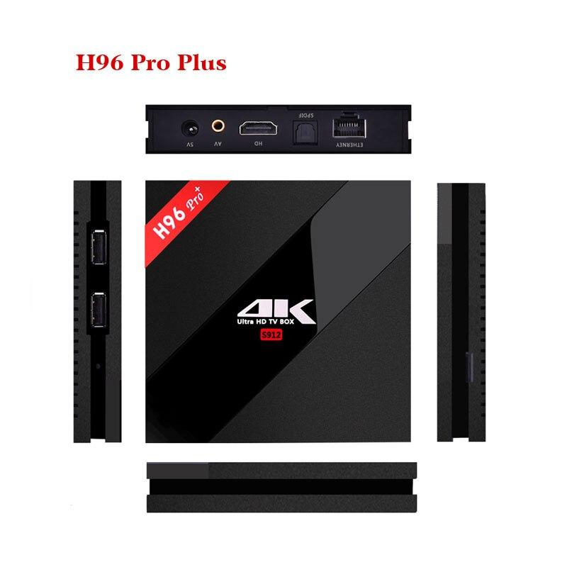 H96 Pro Plus Amlogic S912 Android TV Box 2 GB/3 GB 16 GB Octa Core 2.4G/5 GHz WIFI 4 K décodeur intelligent IP TV lecteur multimédia - 6