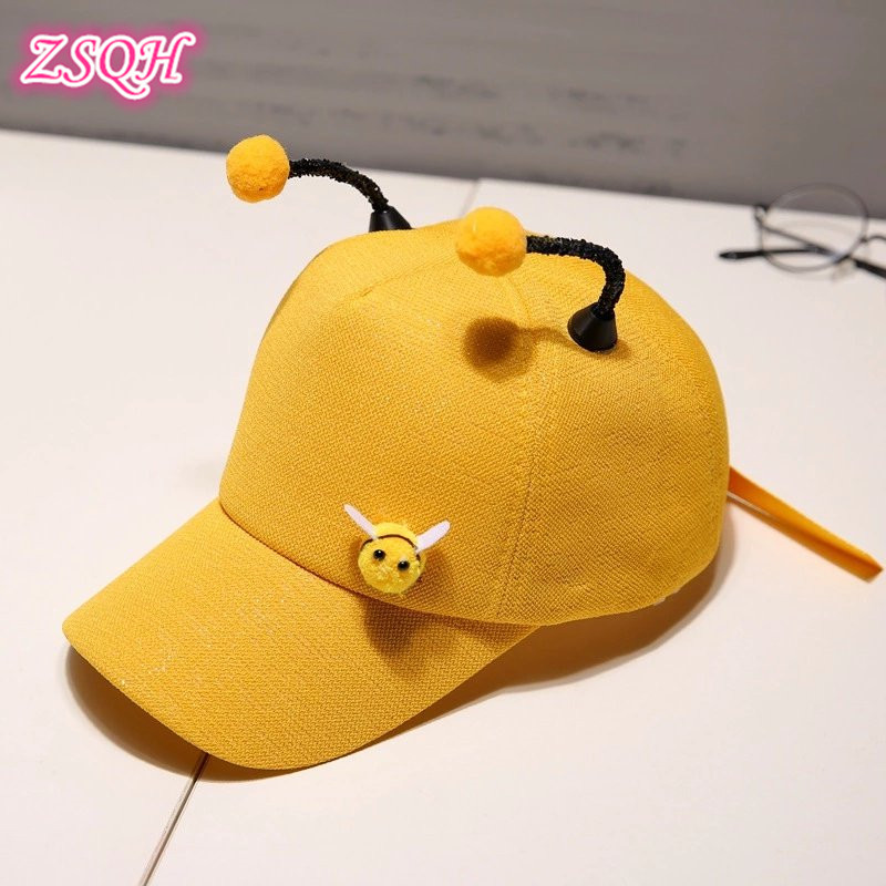 Kids Costumes & Accessories Sporting Zsqh Animal Mayan Bee Hat Baseball Cap Anime Cute Mayan Bee Hip Hop Sun Hats Childrens Mini The Bee Mesh Caps For Kids Ideal Gift For All Occasions