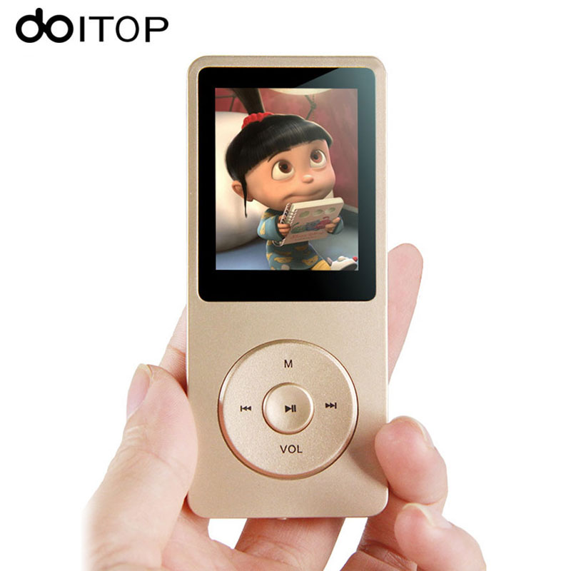 DOITOP 8GB HIFI Lossless MP3 Music MP4 Video Player Portable Sport Music Video Player With font