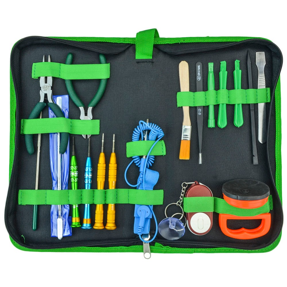 Best Disassemble Tool Set Multi-Function 18 in 1 DIY Opening Repair Hand Tools Kit For Laptop Mobile Phone PDA Tablet PC itian a6 3 coils multi function qi standard wireless charger for tablet pc mobile phone black