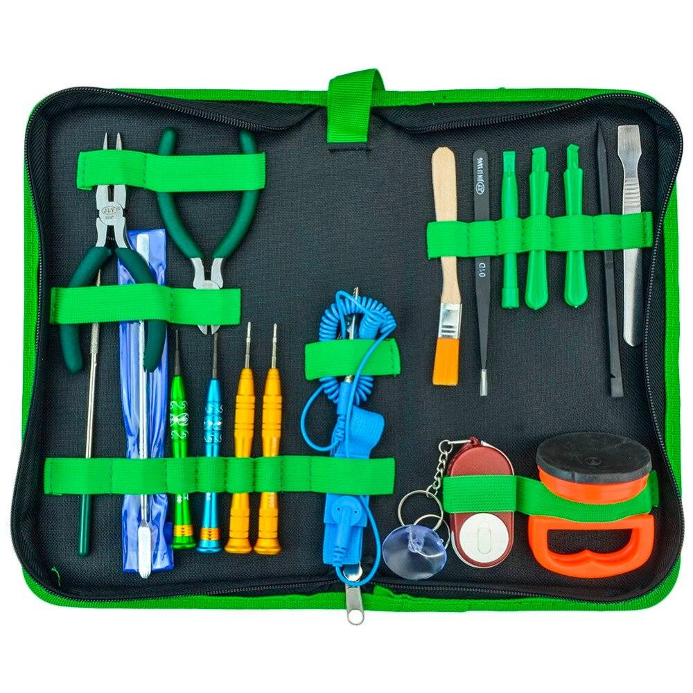 Meilleur démonter ensemble d'outils multi-fonction 18 en 1 bricolage ouverture réparation outils à main Kit pour ordinateur portable téléphone portable PDA tablette PC