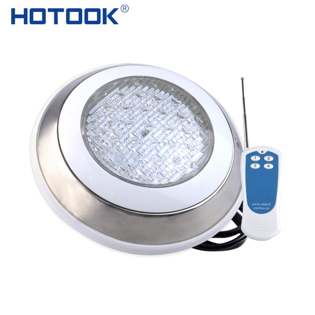 HOTOOK Underwater Lights RGB Surface Mounted LED Swimming Pool Light IP68 12V 18W Stainless Steel Lamp For Fountain Spa Pond