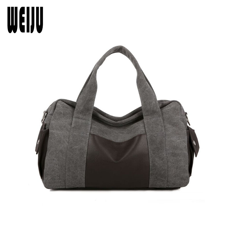 WEIJU Men Travel Bag 2017 New Canvas Shoulder Bags Mens Travel Bags Hand Luggage Casual Traveling Bag Bolsa De Viagem