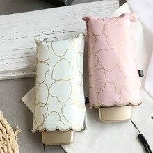 Ultra light black gum sunshade sunshade embroidery edge five fold Mini Mini Pocket dual-purpose sunny umbrella