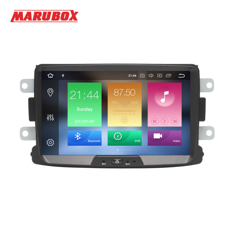 MARUBOX 1Din Radio Android 9 4GB RAM For Renault Duster 2010 2015 Logan Sandero GPS Navi