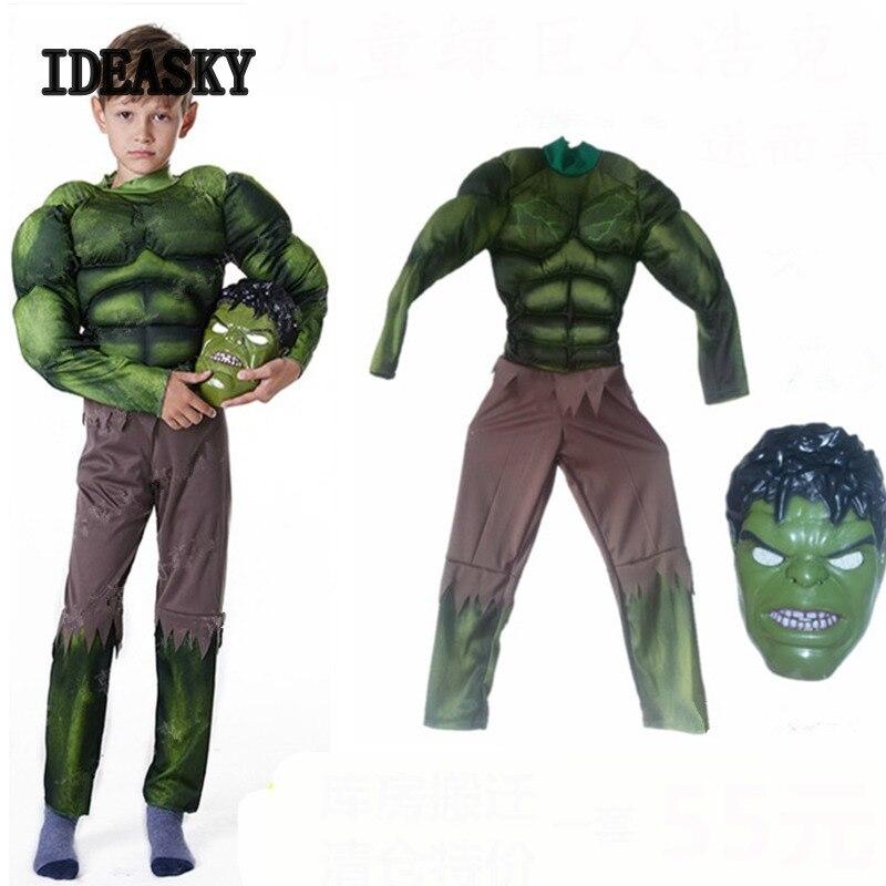 Captain America Avengers Boys Superhero Muscle Costume S-M-L Child Dlx Free Gift