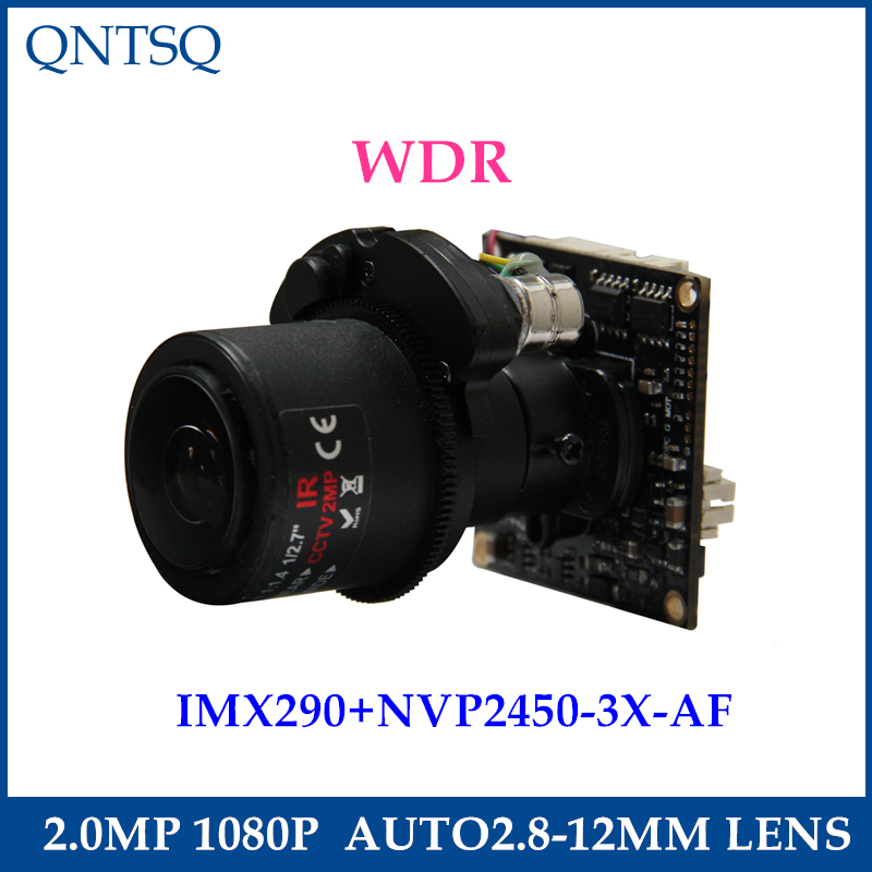 1080P 2.0MP AHD/TVI/CVI/CVBS Motorized 2.8-12mm Zoom&Auto Focal LENs 1/2.8 Sony IMX290/IMX327 NVP2450 CCTV camera module board image