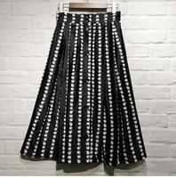 France style elegant high waist Skirts Women 2019 spring summer floral print strip skirt A168