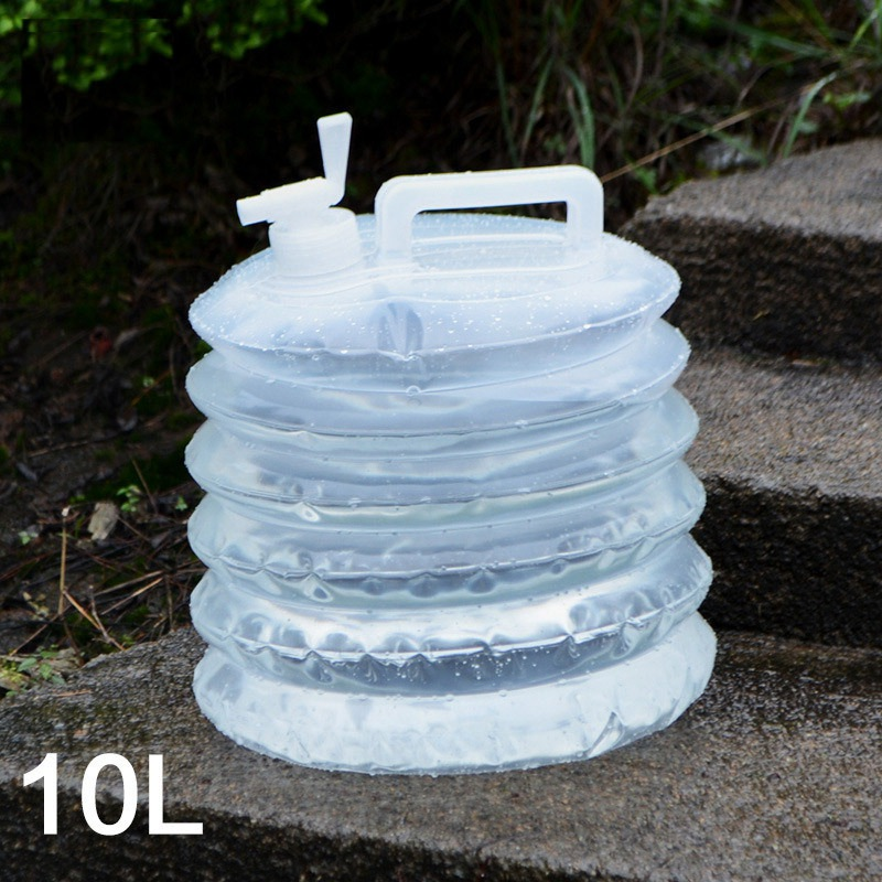 15L Collapsible Water Bag Foldable Container Outdoor Carrier Car Camping Picnic