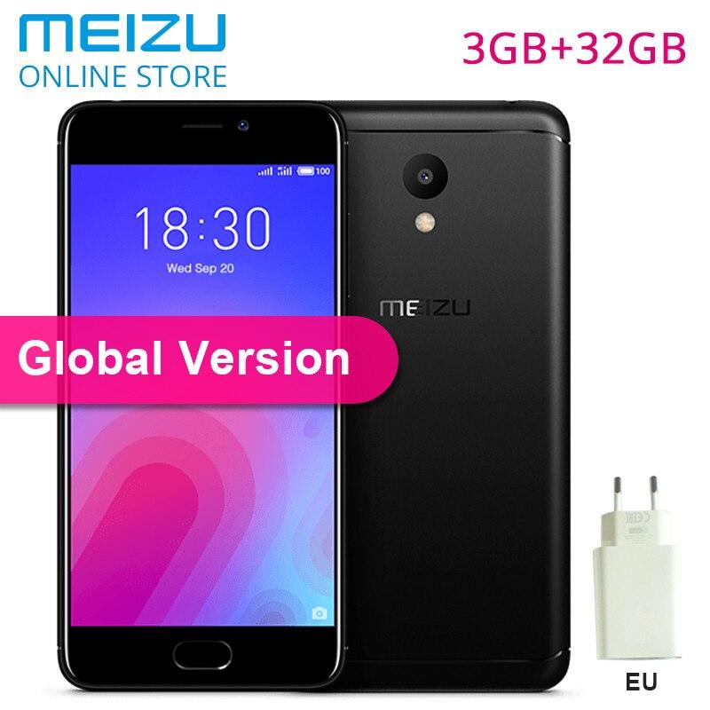 """Meizu M6 3 ГБ 32 ГБ Встроенная память M 6 глобальная версия M711H смартфон MT6750 Octa Core 5,2 """"2.5D стекло HD экран 13MP камера ЕС зарядное устройство CE"""