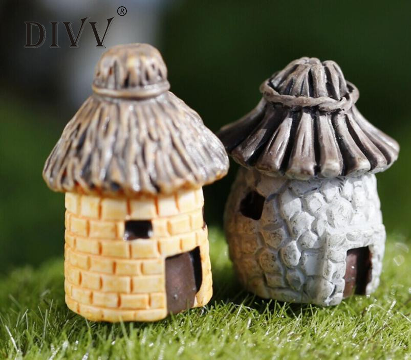 FashionMini Round Cartoon Expression House Resin Decoration For Home And Garden DIY Mini Craft Cottage Landscape Decorationmay31