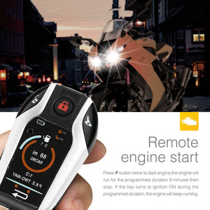 Image 4 - PKE 2 Two Way Motorcycle Anti theft Alarm System Remote Engine Start Moto Scooter PKE Sensing Alarm Theft Protection Universal