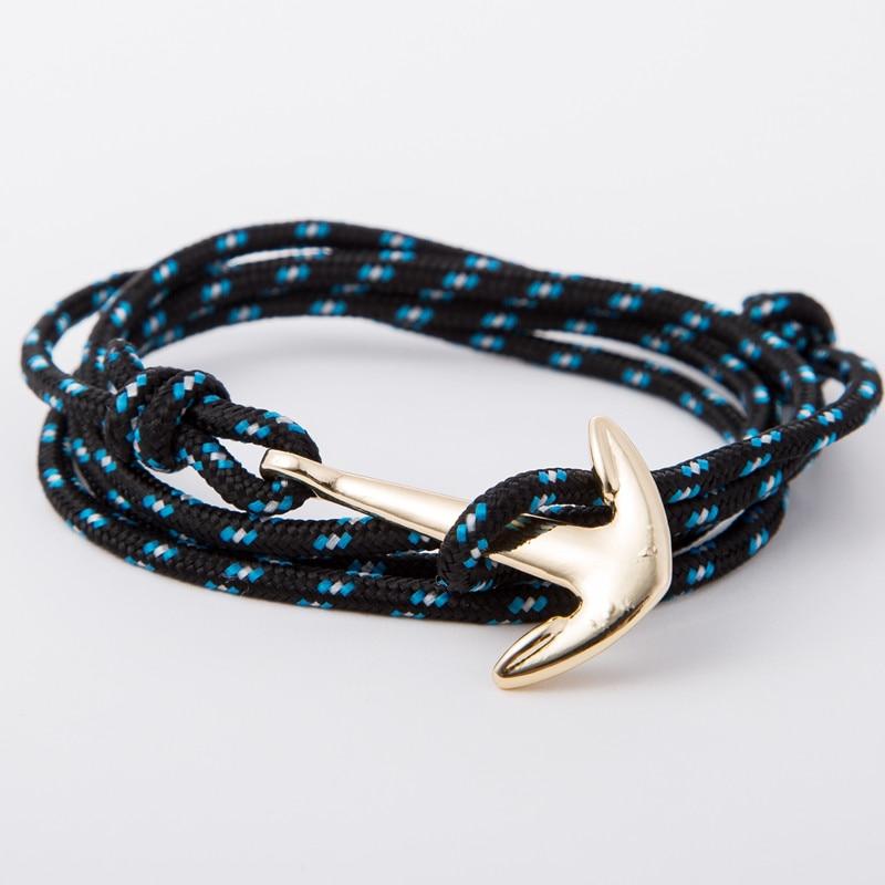 Retro Alloy Anchor Bracelet Multilayer Leather Risers Bracelet for Women&Men Friendship Bracelets