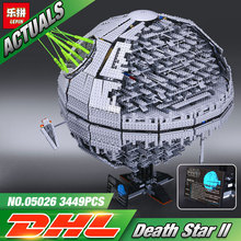 NOUVEAU LEPIN 05026 Star Wars UCS Death Star II La deuxième génération 3449 pcs Building Block Briques Jouets Compatible 10143