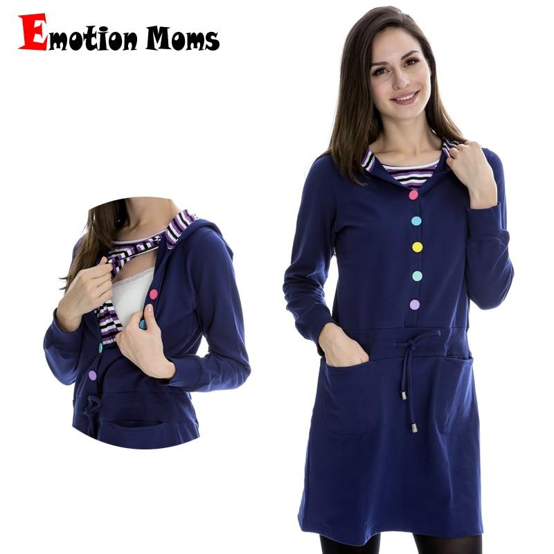 Emotion Moms Maternity Clothes Breastfeeding pregnancy dress Nursing Clothes pregnant dress For Pregnant Women Maternity Dresses