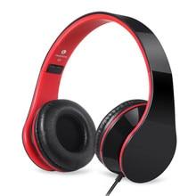 Fones de Ouvido com fio de Som Estéreo Protable Fone De Ouvido Dobrável Para Computador Do Telefone Móvel fone de Ouvido Fone de Ouvido com Microfone