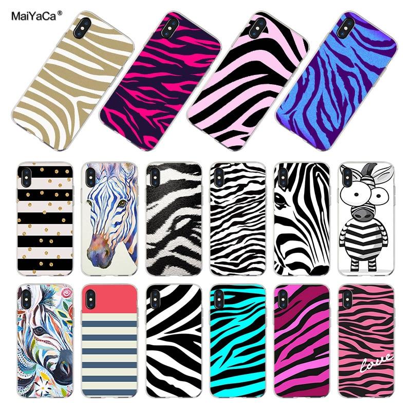 Capa para iphone 11pro MaiYaCa max listras da Zebra preto e branco colorido tampa da caixa de telefone para o iphone X XS MAX XR 8 7 6 6S Plus X 10 11pro 5 5S SE 5C Coque