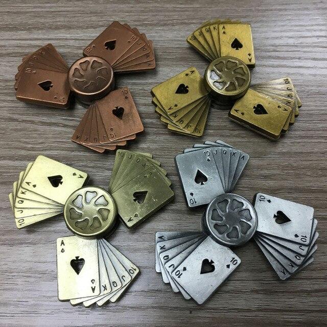 Playing Cards Poker Fid Spinner Finger Metal EDC Hand Spinner