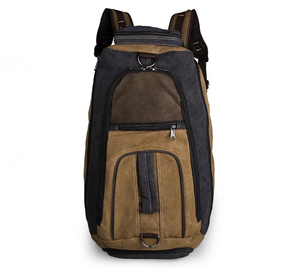 Multifunction Durable Canvas Backpack Extra Large Rucksack Mountaineering Bag 9025