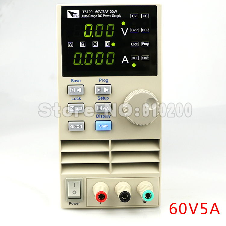 IT6720 high precision Adjustable Digital DC Power Supply 10mV/1mA 60V/5A for scientific research service Laboratory kuaiqu high precision adjustable digital dc power supply 60v 5a for for mobile phone repair laboratory equipment maintenance