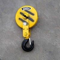 2 T drutu liny podnośnika elektrycznego specjalny hak hak do podnoszenia koło pasowe koło pasowe blok hak 2 ton w Narzędzia i akcesoria do podnoszenia od Narzędzia na