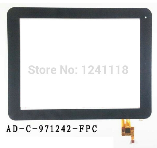 Black Capacitive Touch Screen Digitizer Glass 9.7 inch Tablet Touch Panel Replacement AD-C-971242-FPC free Shipping 10pcs lot free shipping 9 inch flat panel touch screen cn057 fpc v0 1 capacitive screen handwriting external screen