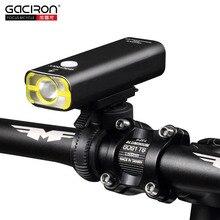 GACIRON Bike Bicycle 400 Lumens LED Flashlight USB Rechargeable Handlebar Headlight Biking Lamp with optional Tail Light