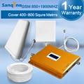 Sanqino LCD 850 MHz 1900 MHz de Doble Banda De Refuerzo Repetidor GSM 850/1900 Amplificador de Señal de Trabajo para AT & T Verizon Teléfonos Celulares Telus Fido