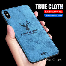 Mewah Kain View Case For iPhone X 6 7 8 6 S PLUS Soft Cover Case untuk iPhone 6 6 S 7 8 X Ditambah Silikon Shockproof Penuh Case(China)
