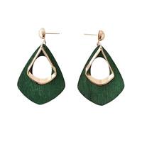 Fashion woman   earrings   Retro geometric metal wood   earrings   Contracted hipster female stud   earrings     fine   jewelry wholesale