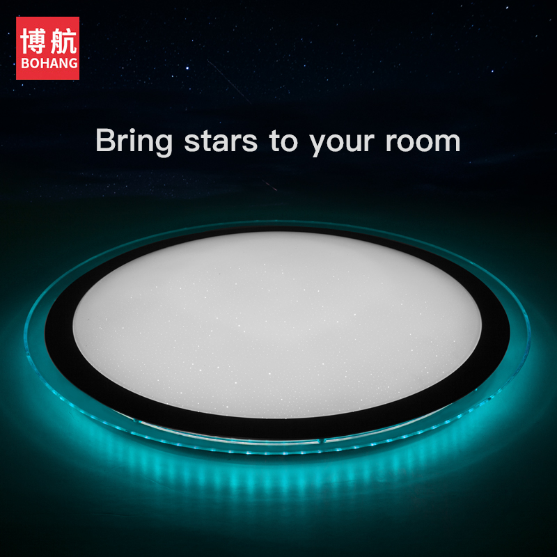 Modern Led Ceiling Light 25w Smart Remote Control Rgb Dimmable Color Changing Lamp For Livingroom Bedroom Ac165-265v Ceiling Lights & Fans