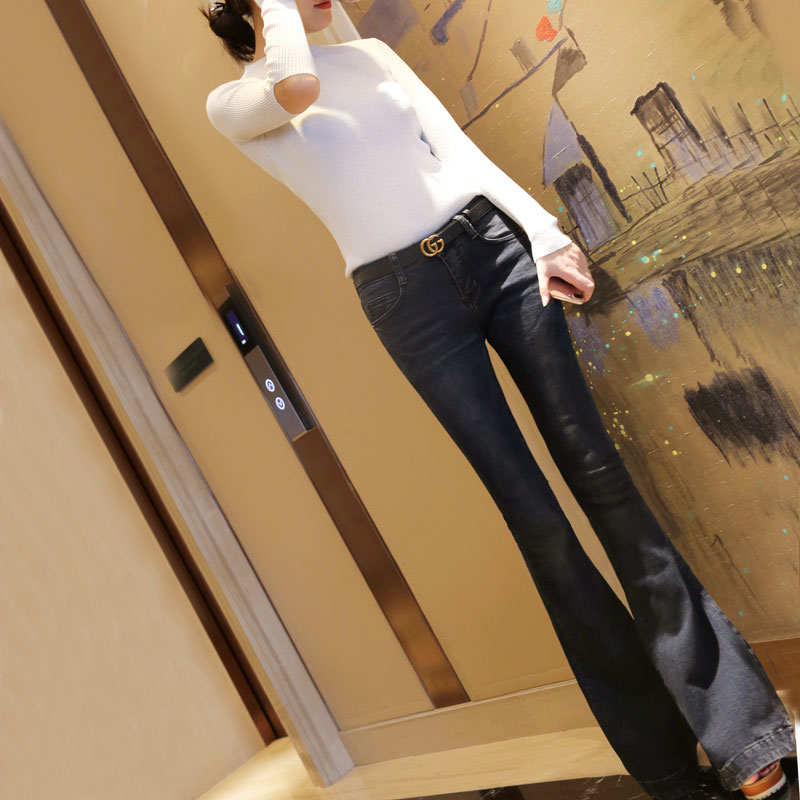The new slim retro jeans and trousers big slim pants female jeans free shipping