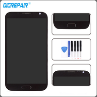 Black LCD Assembly For Samsung Galaxy Note 2 N7100 LCD Display Touch Screen With Digitizer Replacements