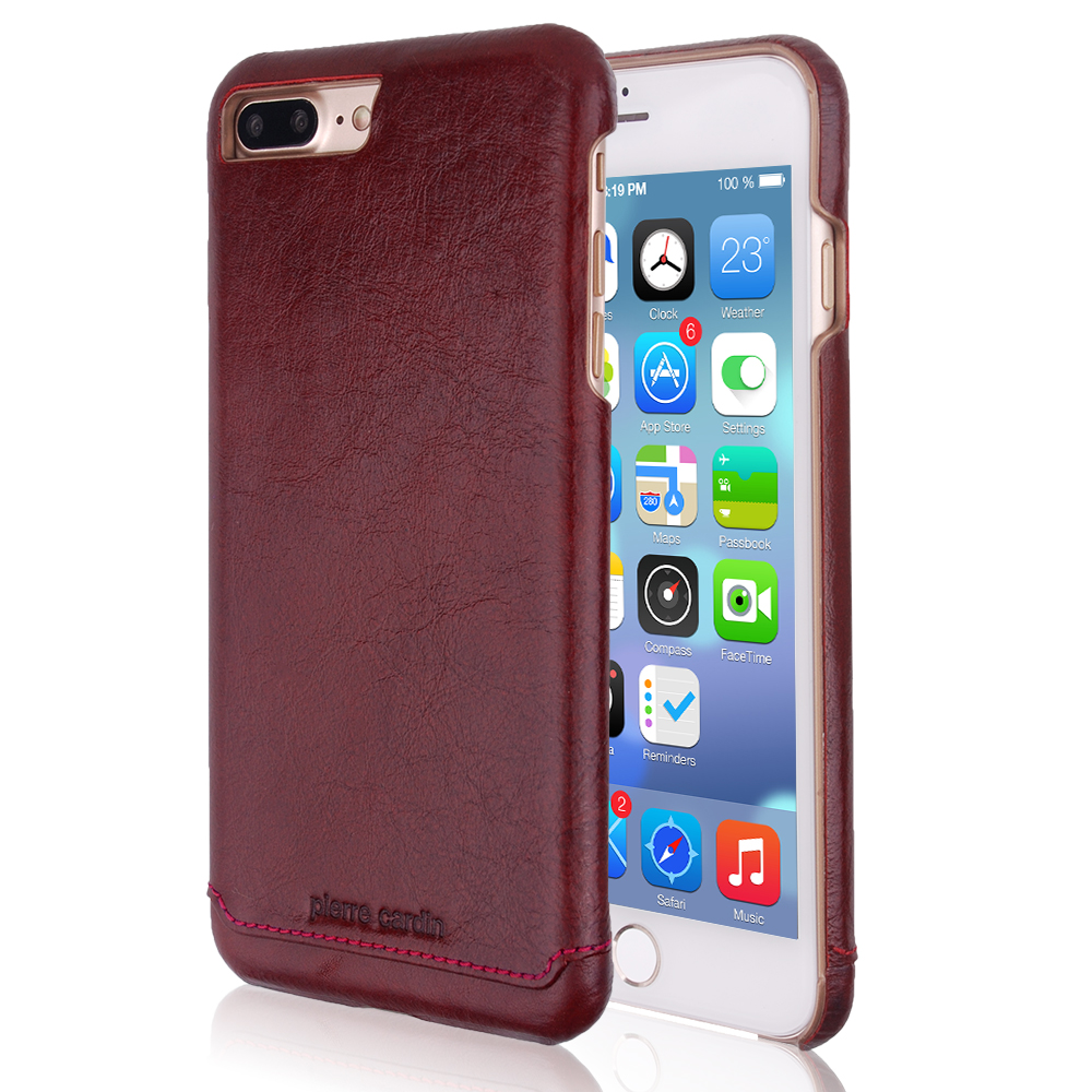 hot sale online 2d880 55781 US $17.0  Original Pierre Cardin Case Luxury Brand Genuine Leather Cover  For iPhone 7 8/7 8 Plus Cases Ultra Thin Back Case for iphone 7 on ...