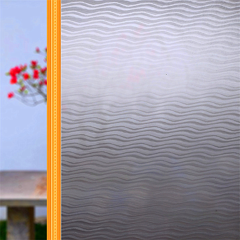 3D 45 * 100 cm Static Cling Removable Window Film Stained Flower Glass Sticker Bathroom Slide Door Gift